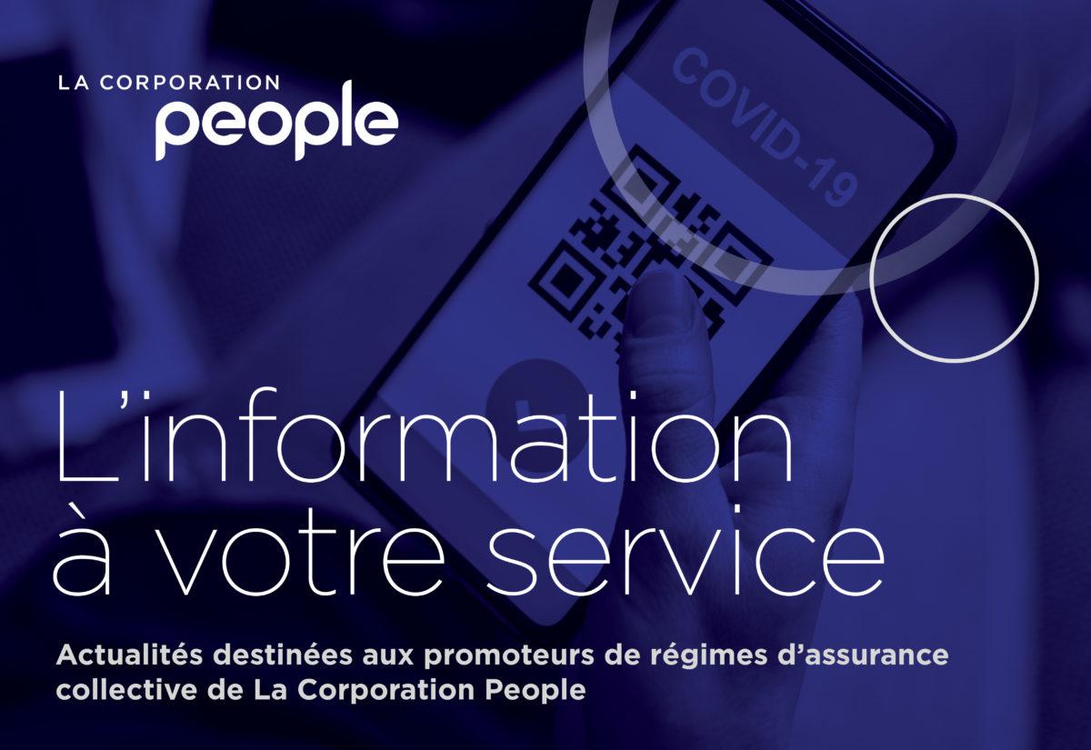 L'information à votre service : La prochaine tape vers la normale – le passeport vaccinal